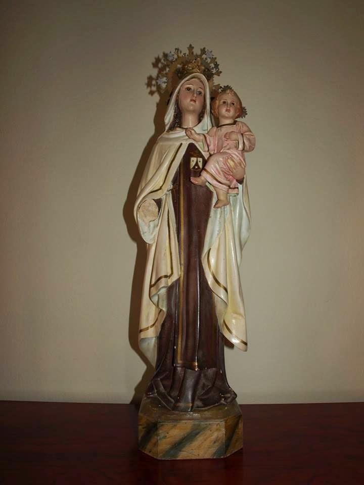 restauracion Virgen del Carmen antes