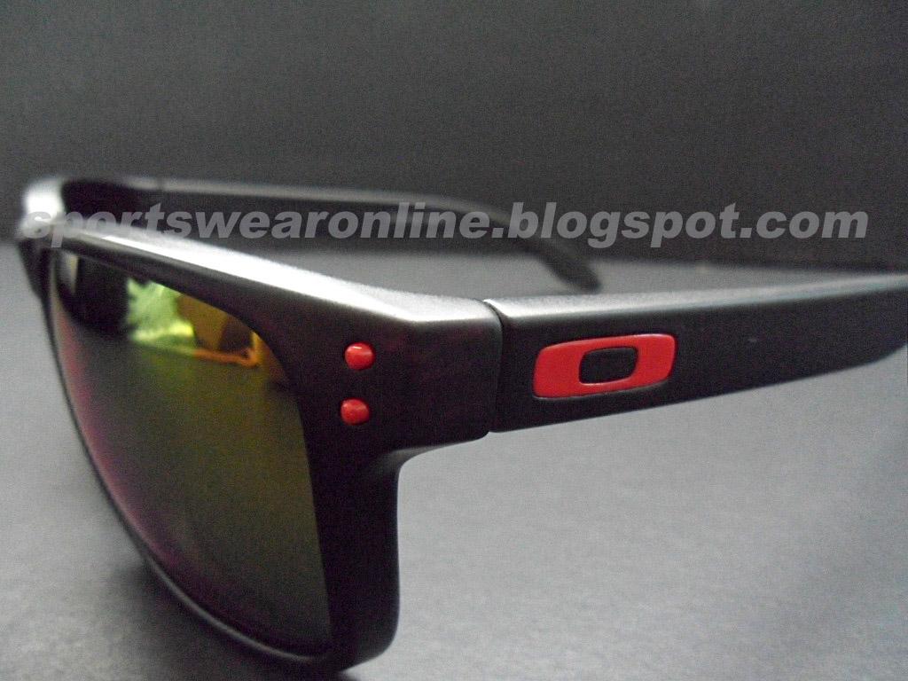 Oakley Holbrook Sunglasses Red Logo