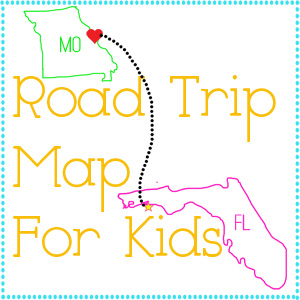 Entirely Emily Road Trip Map For K - Map making for kids