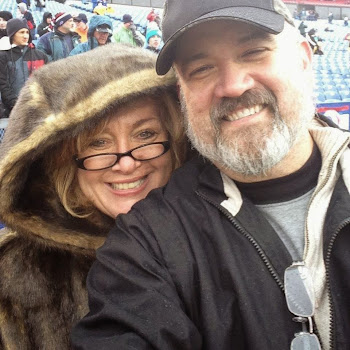 At a Bills game with my sweetheart