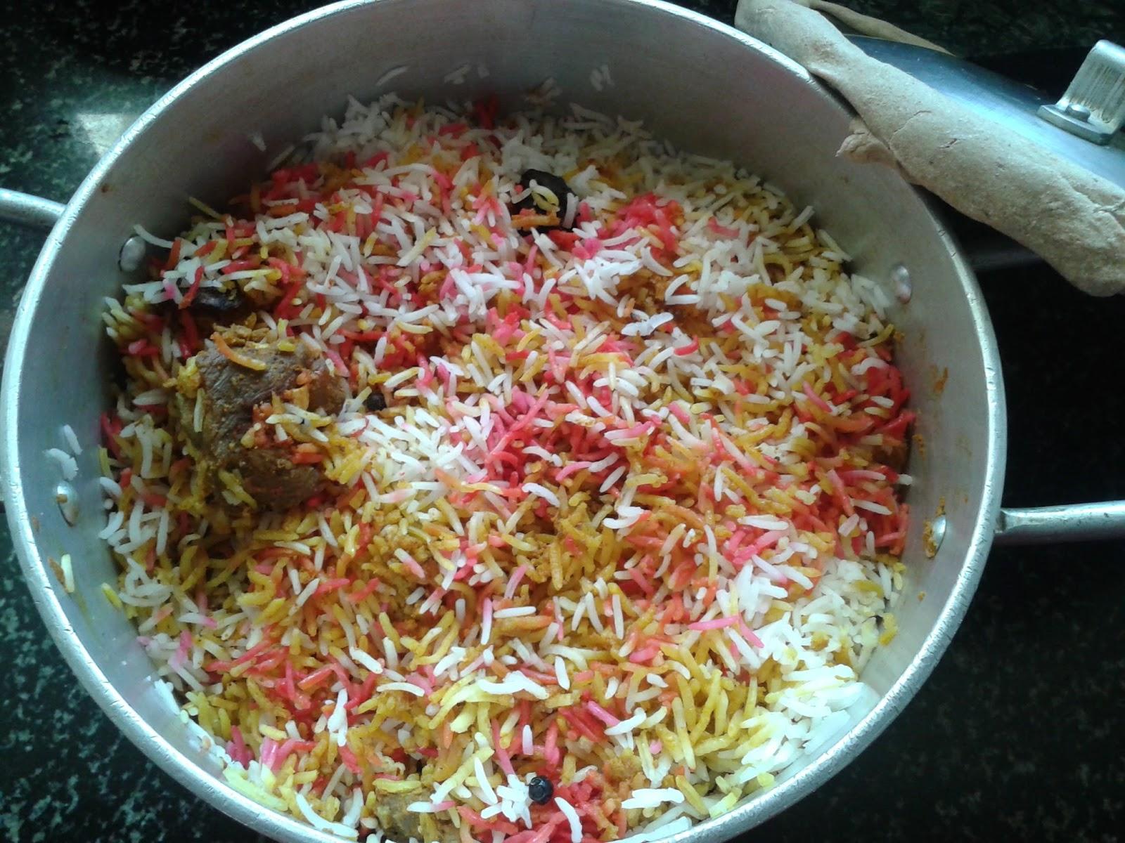 Mutton  Kg Oil  Tblsp Garlic 2 Tsp Ground Ginger 2 Tsp Ground Fried Onion Paste  Tblesp Basmati Rice 6 Cups