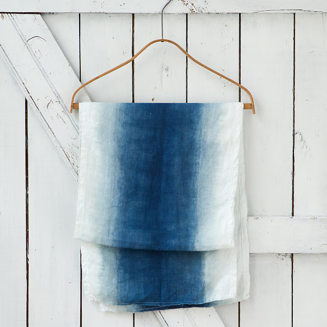 Terrian blue and white ombre table runner
