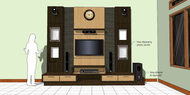 Gambar Desain Meja TV Entertainment Room
