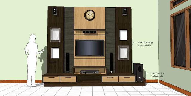 Gambar Desain Meja TV Entertainment Room