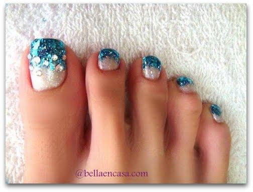 Diseños de acrílico, uñas de pies encapsuladas !!