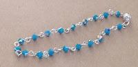 turquoise crystal link bracelet