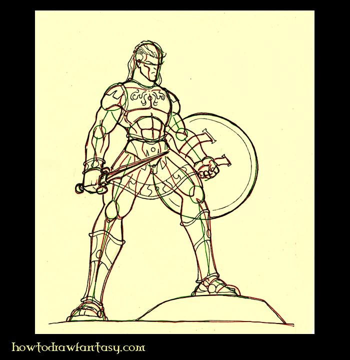 how to draw greek gods step by step
