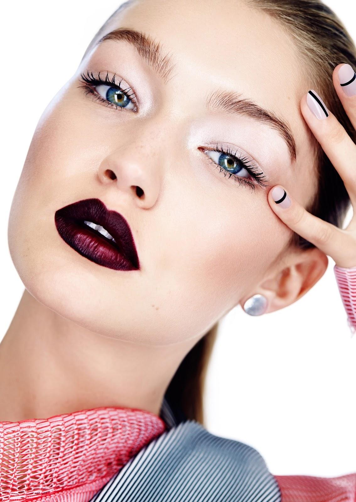 gigi byte: gigi hadid by max abadian for elle canada november 2015 ... Red Lipstick Photoshoot