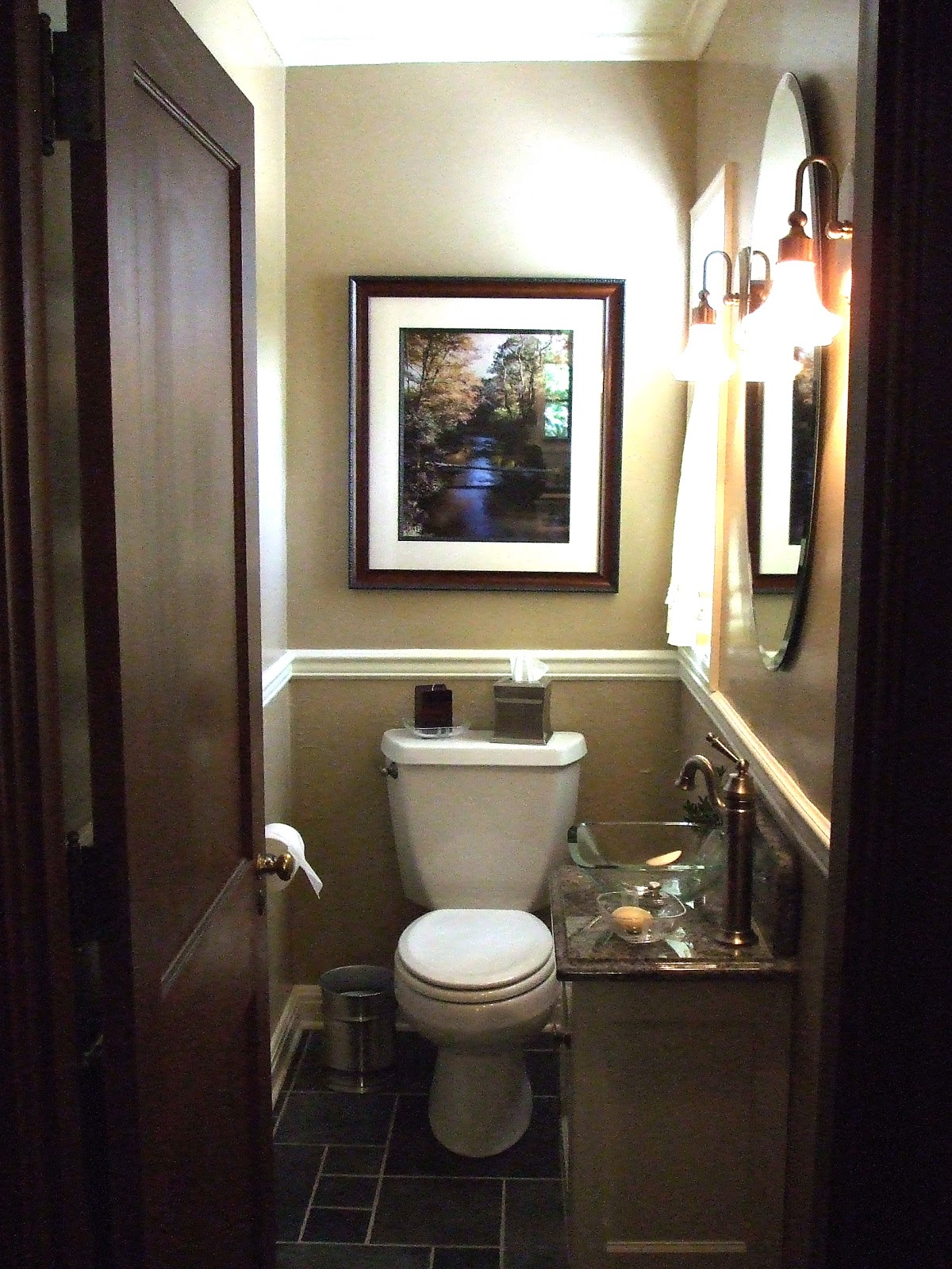 Small powder room for Room design with bathroom