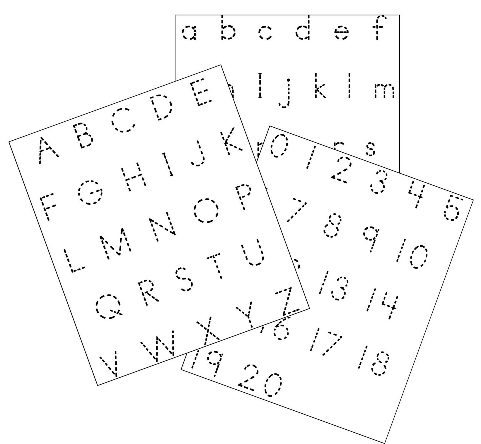 Little piles everywhere abc number trace abc number trace robcynllc Images
