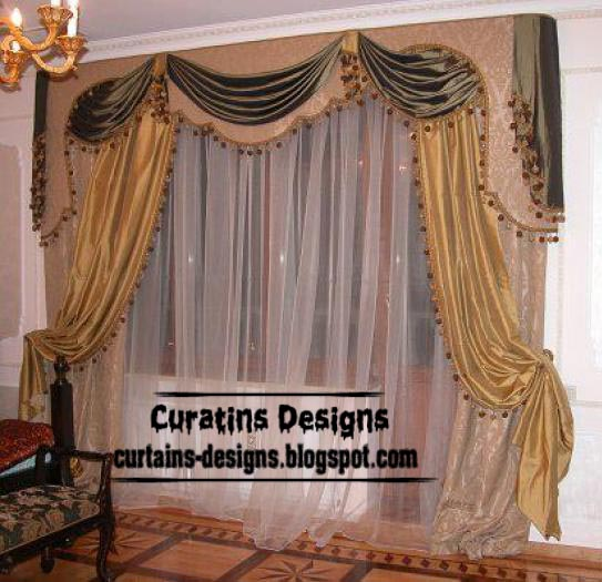 luxury curtain design with luxury valance for bedroom