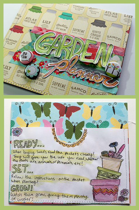 DIY Garden Planner - Organize and Plan Your Perfect Garden for Spring with this Scrapbooking Project
