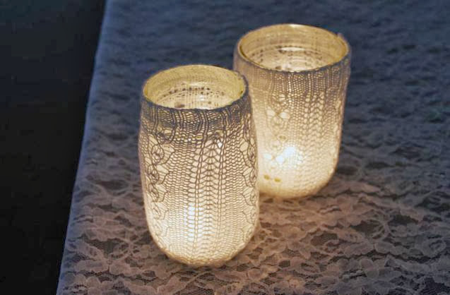 Mason Jar Candle Covers