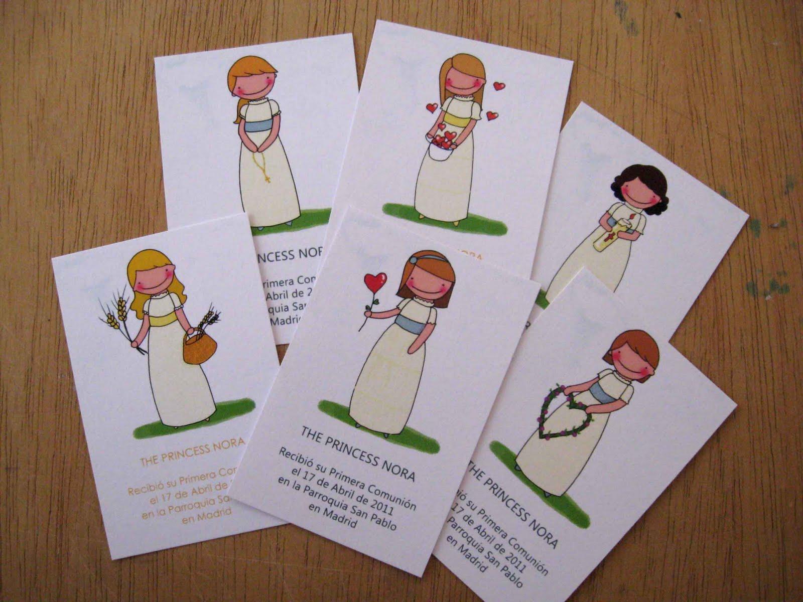 The princess nora vestidos de comunion y recordatorios - Recordatorios de comunion para imprimir ...