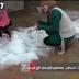 فيديو : أول رجل ثلج في مصر في محافظة القاهرة