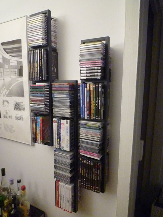 Etagere cd ikea great interesting superbe etagere murale fait maison rangement cd but with ikea - Meuble dvd ikea ...
