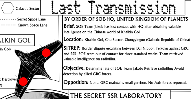 Last Transmission - One-Page Sci-Fi Adventure