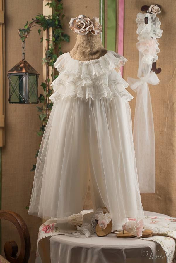 coverall for girl's christening 2301
