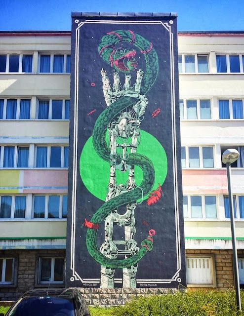 Urban Art By Smithe And Seher From Mexico For Bien Urbain Festival In France. 5