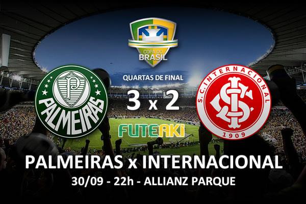 Veja o resumo da partida com os gols e os melhores momentos de Palmeiras 3x2 Internacional pelas quartas de final da Copa do Brasil 2015.