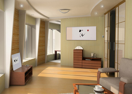 Tranquility and simplicity in japanese interior design for Apartment interior design japan