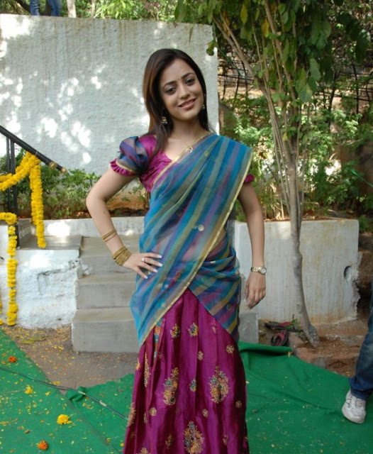 South Indian Actress Nisha Agarwal Looking Cute in Saree Photos
