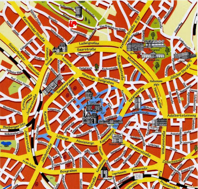 Aachen Landkarte Stadt Region