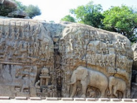 The rock sculpture Arjuna's Penance Mahabalipuram