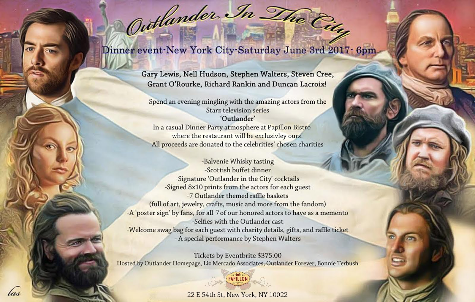 Outlander in the City Dinner event!