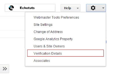 verification details options google webmaster tutrorial Cara Daftar dan Verifikasi Blog ke dalam Google Webmaster - echotuts