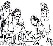 dibujos para colorear de Semana Santa; crucifixion ultma cena para colorear