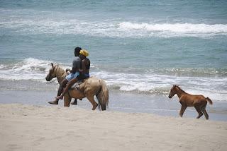 Garifunas, Honduras, Tela, beach, Carribean