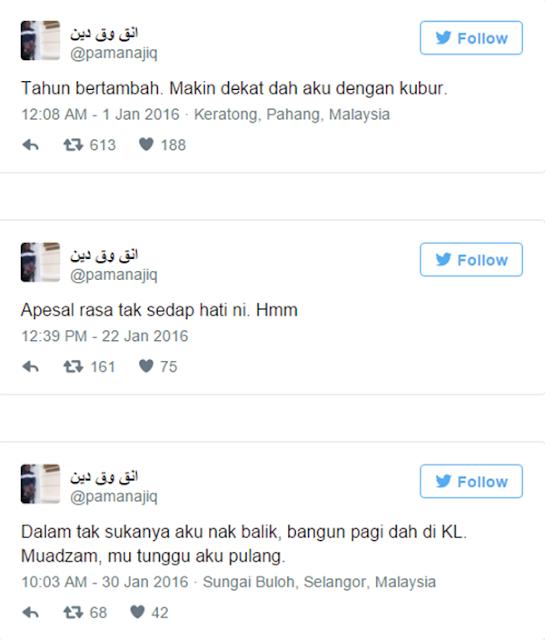SEBAK! Pelajar Meninggal Akibat Kemalangan, Kongsi Tweet Sebelum Ajal Jadi Viral