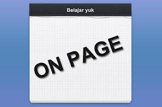 Belajar SEO Onpage