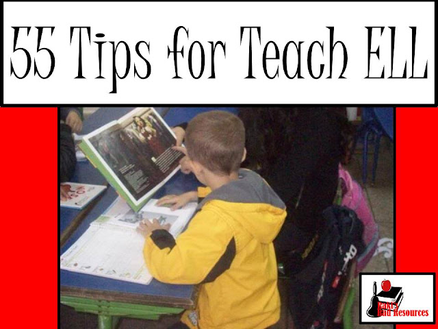 Fifty five tips for teaching ell (or esl or esol) students. These tips were accumulated over years fo teaching in American and overseas in Morocco at international schools. Tips from Raki's Rad Resources.
