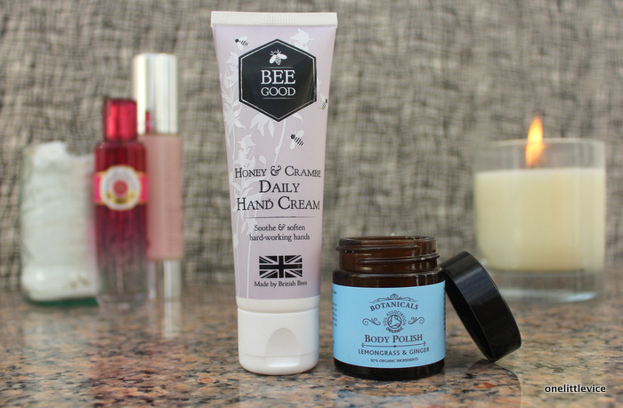 one little vice beauty blog: natural and organic hand cream and body scrub review