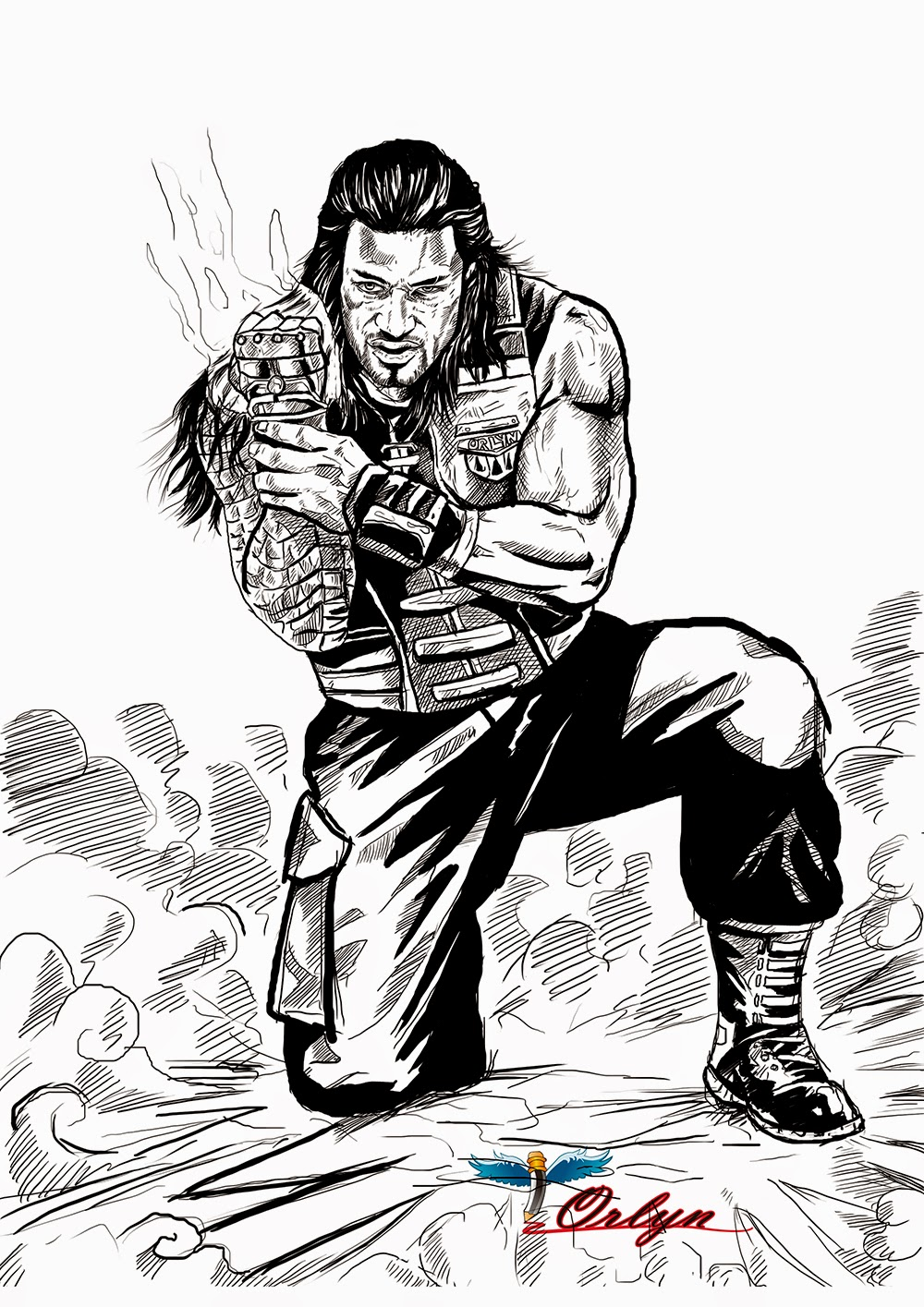 roman reigns logo coloring pages coloring pages