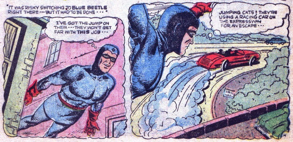 Blue Beetle in Nature Boy 3--'Jumping cats!'