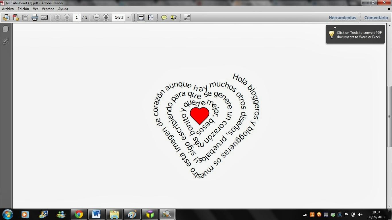 escribir en forma de corazon