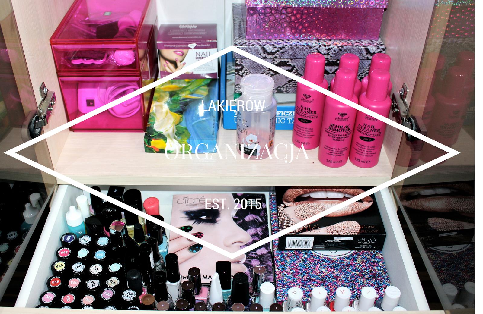 nail polish colection kolekcja lakierów do paznokci organizacja kosmetyków