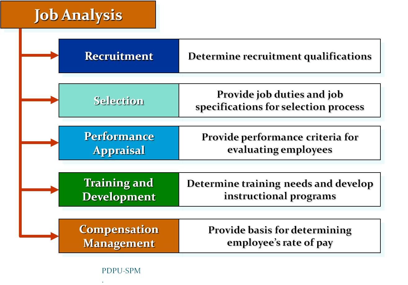 job design and key factors in job analysis management essay A job analysis is a process used to collect information about the duties, responsibilities, necessary skills, outcomes, and work environment of a particular jobyou need as much data as possible to put together a job description, which is the frequent output result of the job analysis.