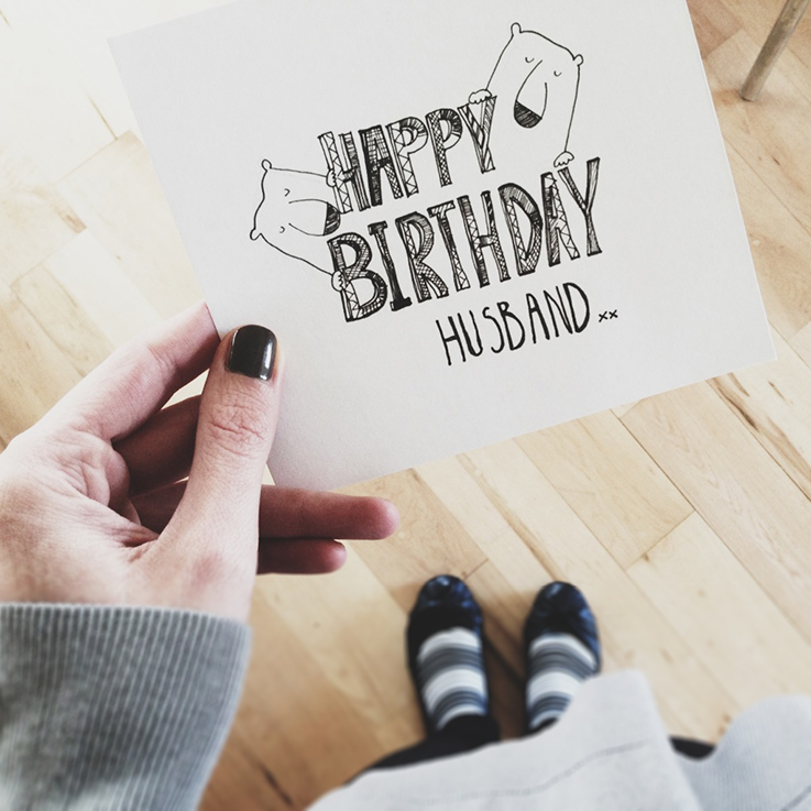 hand drawn birthday card