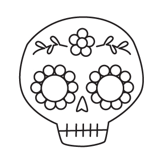 day of the dead skull mask template - studio longoria tutorial sequined sugar skull hairclip pin