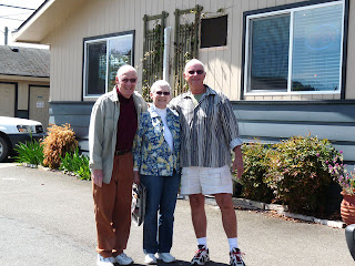 Keoki with our best Sequim neighbors Sue and Bob