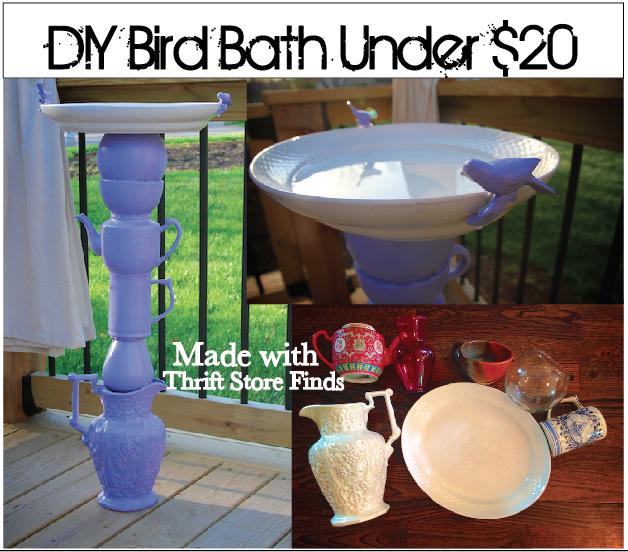 Life Sprinkled With Glitter Diy Bird Bath Under 20