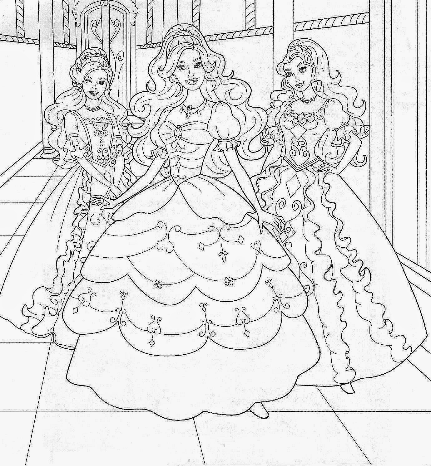 Barbie Free Printable Coloring Pages Coloringfilminspector