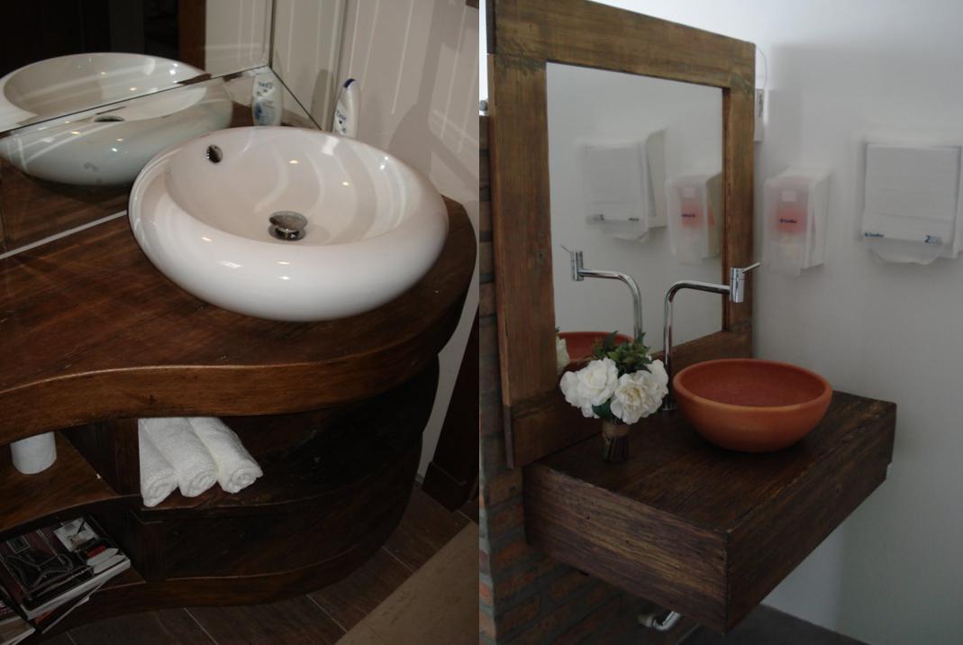 EcoPeroba Madeira de Demolição Madeira de Demolição no Banheiro -> Como Fazer Uma Cuba Para Banheiro Artesanal