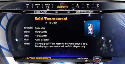 NBA 2K14 Tier Tournaments (Based on Color)
