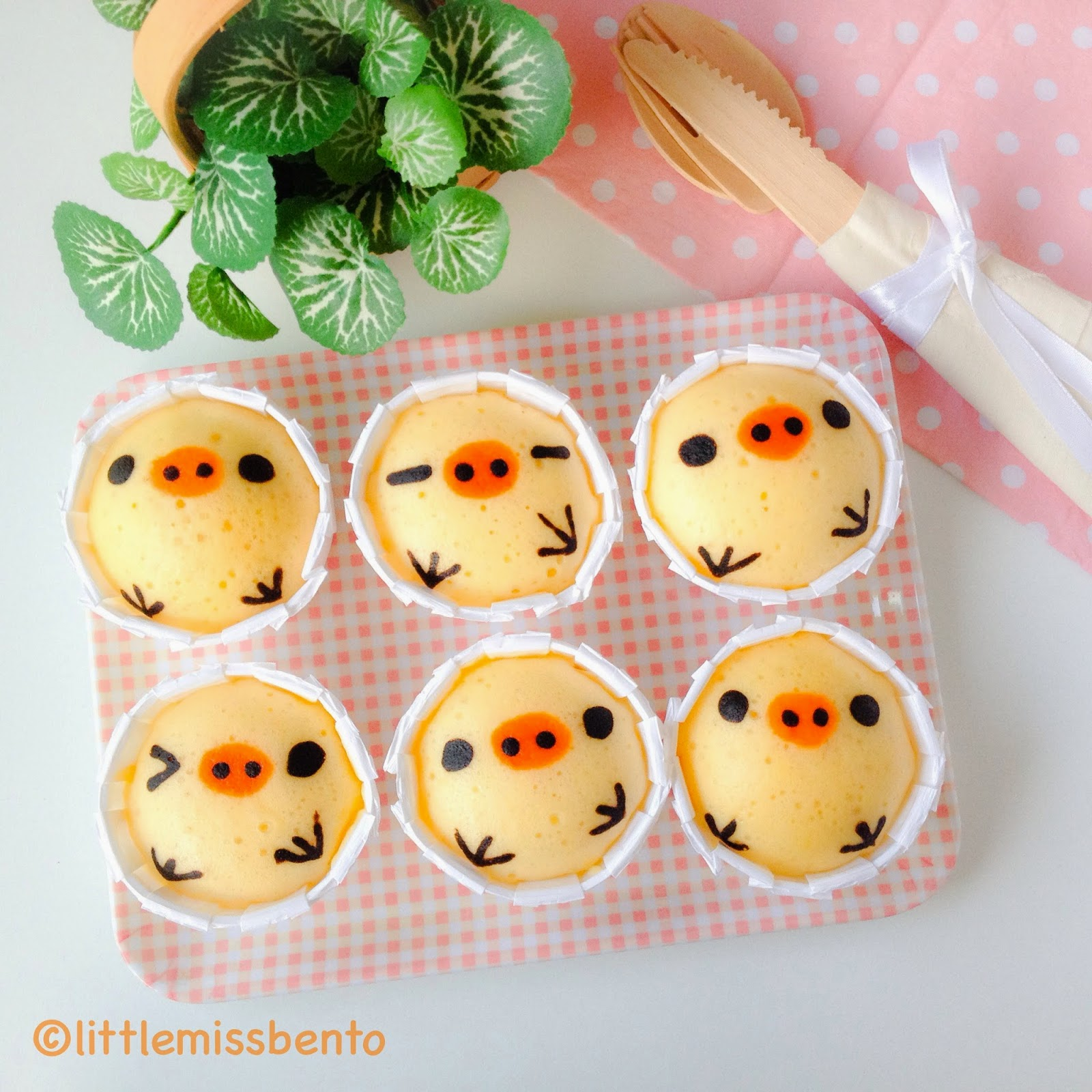 Recipe for kiioritori japanese steam cakes mushi pan little miss bento - Stylish cooking ...