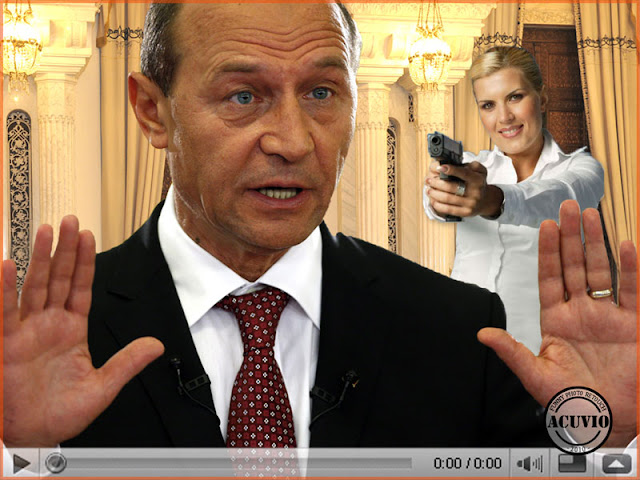 Funny photo Traian Basescu Elena Udrea Scenarii